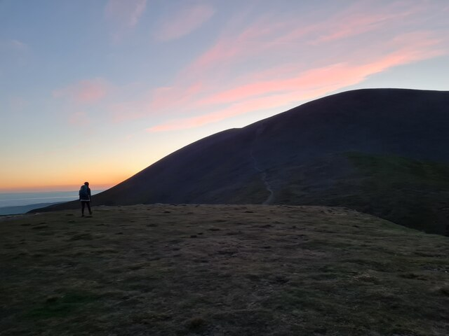 View of Skiddaw South from Carl Side