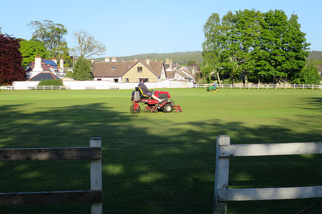 Mowing the Cricket Pitch