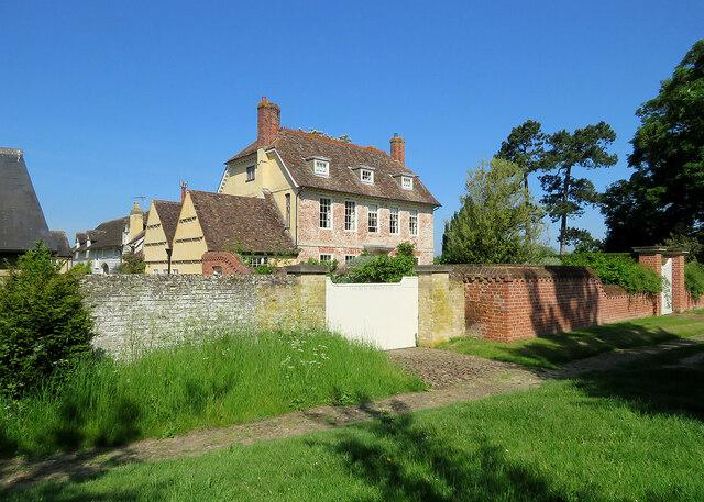 Comberton: Church Farmhouse on a summer morning
