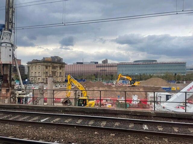 HS2 Curzon Street station site, April 2021 (1/4)