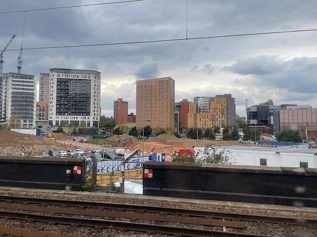 HS2 Curzon Street station site, April 2021 (3/4)