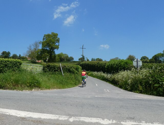 Cyclist, about to climb Withial Hill