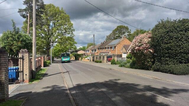 Bus in Yeovil Road