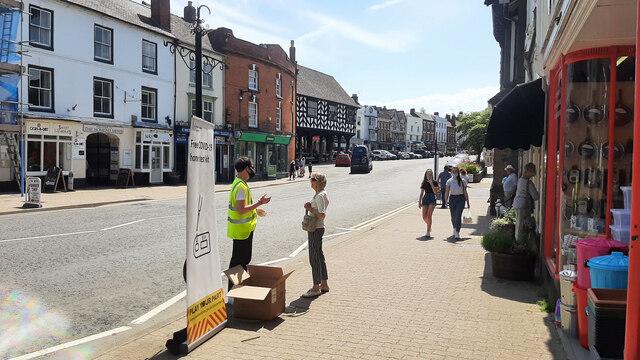 Free test kits in Ledbury town centre