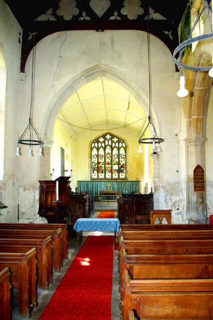 Looking east in St Mary's Church