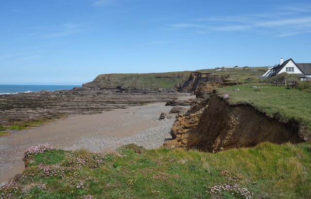 North end of Widemouth Bay