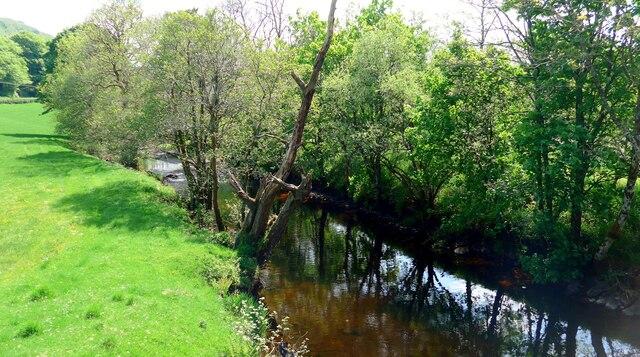 The Water of Girvan at Craigfad bridge