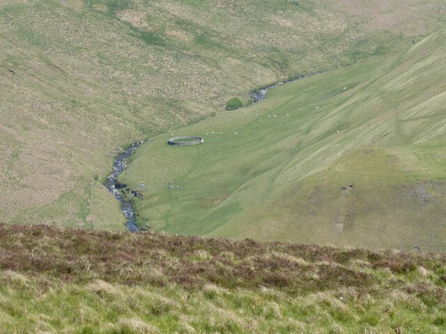 Looking down into the valley of the Usway Burn