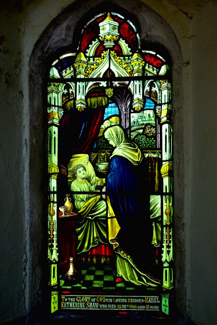 South chancel window in St Mary's Church