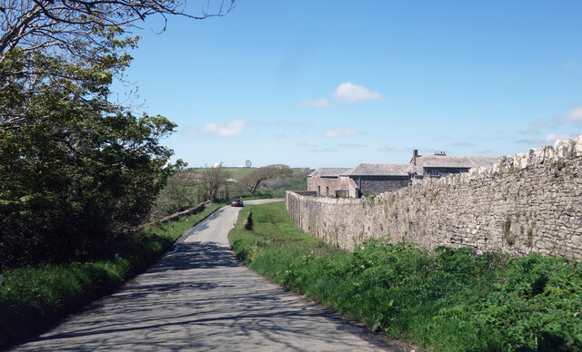 Wall at Stowe Barton Farm