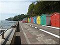 SX9676 : Sea wall at Dawlish by Chris Allen