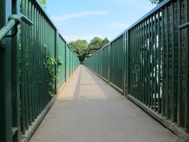 Thames Path on footbridge, Bourne End