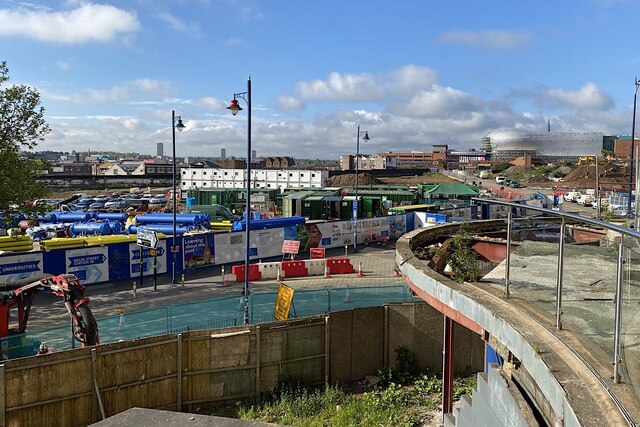 HS2 Curzon Street station site, Birmingham, May 2021 (2/4)