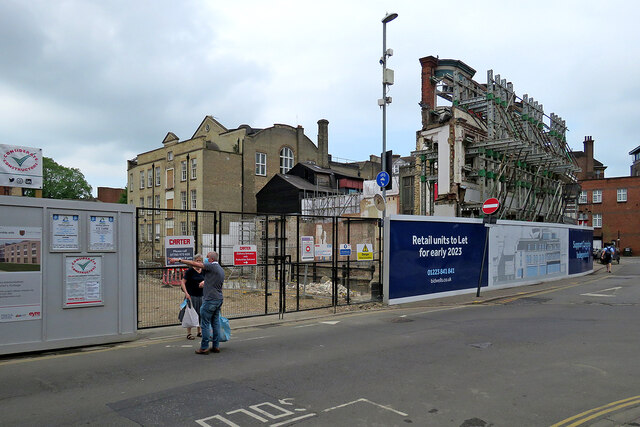 King Street: building work at Christ's College