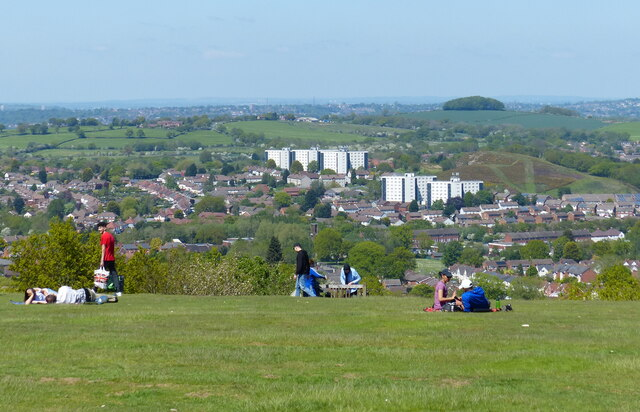 View north from Beacon Hill across Rubery
