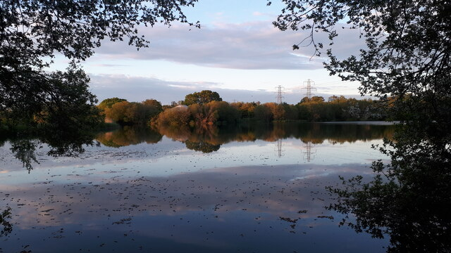 Evening view across Little Testwood Lake