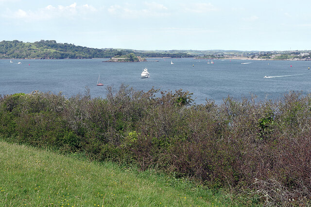 Plymouth Sound from above Batten Bay