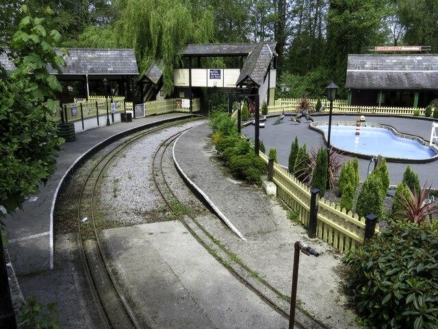 The railway at Trago Mills