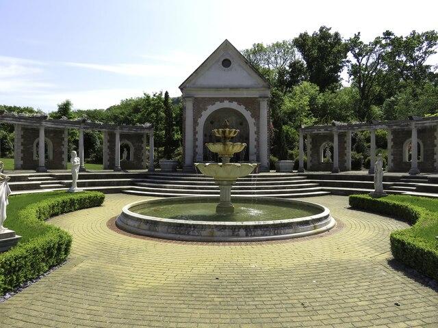 Fountain in Trago Mills garden centre
