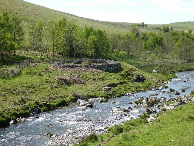 Sheepfold beside the River Coquet