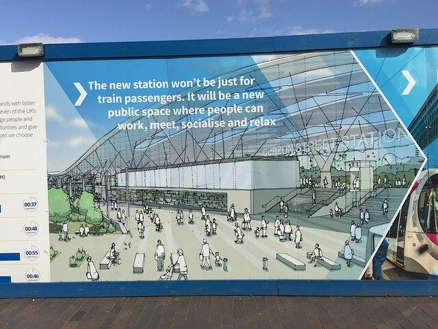 HS2 Curzon Street station site, Birmingham, August 2019