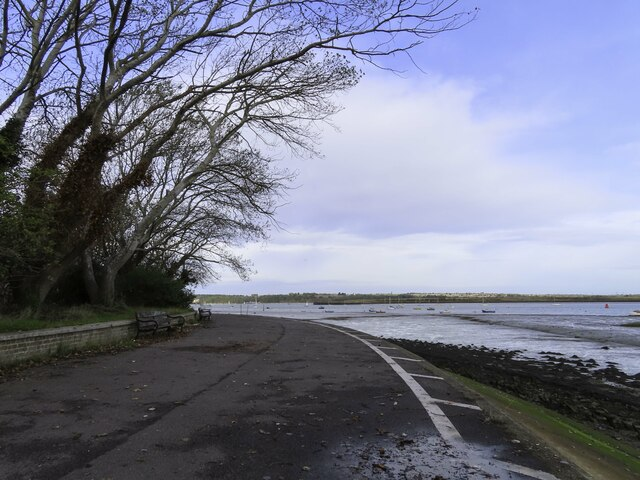 The Saxon Shore Way by Gillingham Marshes