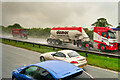 SE4152 : Rain and Spray on the A1(M) near Wetherby by David Dixon