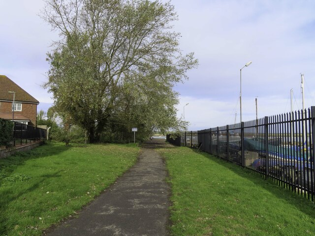 The Saxon Shore Way in Gillingham