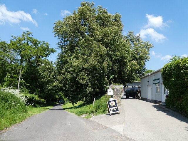 Entrance to Batch Farm and shop