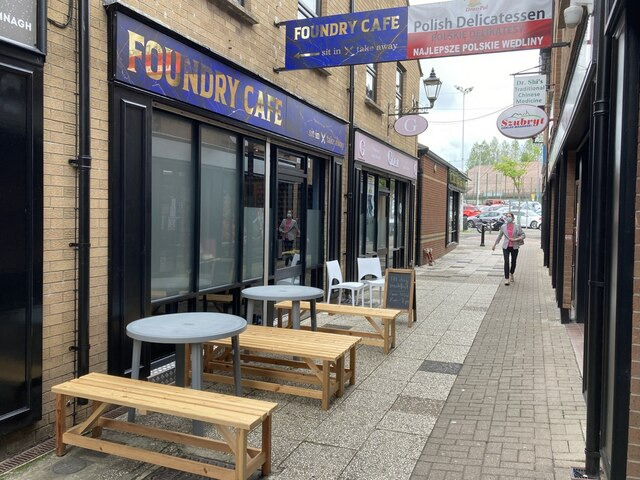 Outdoor dining at the Foundry Cafe, Omagh
