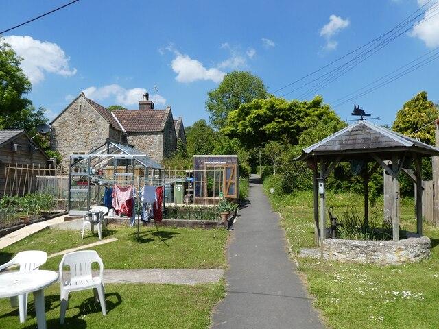 Path through 'The Gardens' at East Pennard