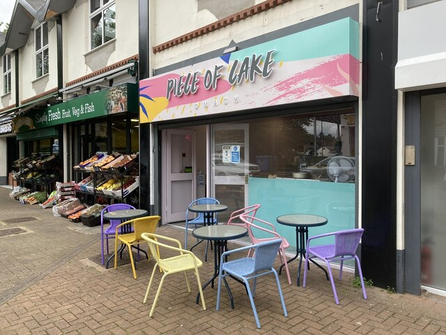 Outdoor tables at A Piece of Cake, Omagh