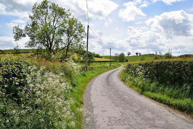 Bend along Drumragh Road