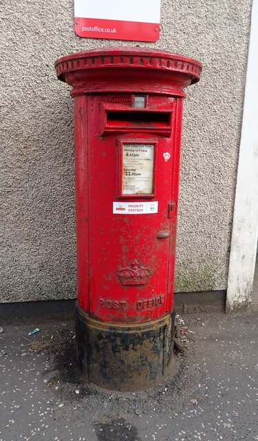 Elizabethan postbox on Lainshaw Street, Stewarton