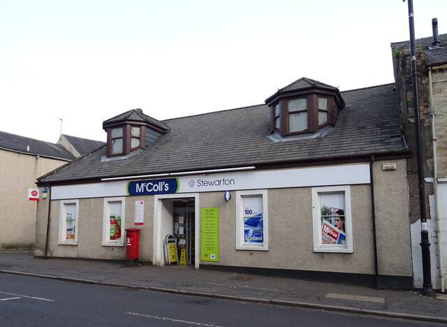 Post Office and shop on Lainshaw Street, Stewarton