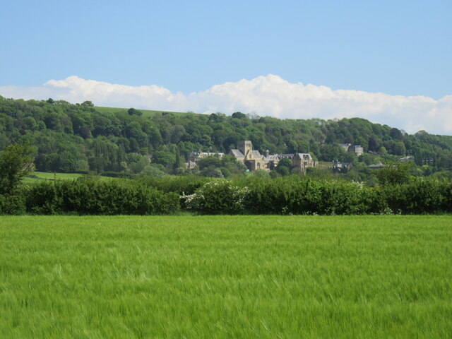 Looking towards Ampleforth Abbey