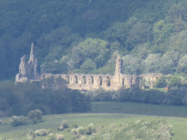 Zoomed in view of Byland Abbey