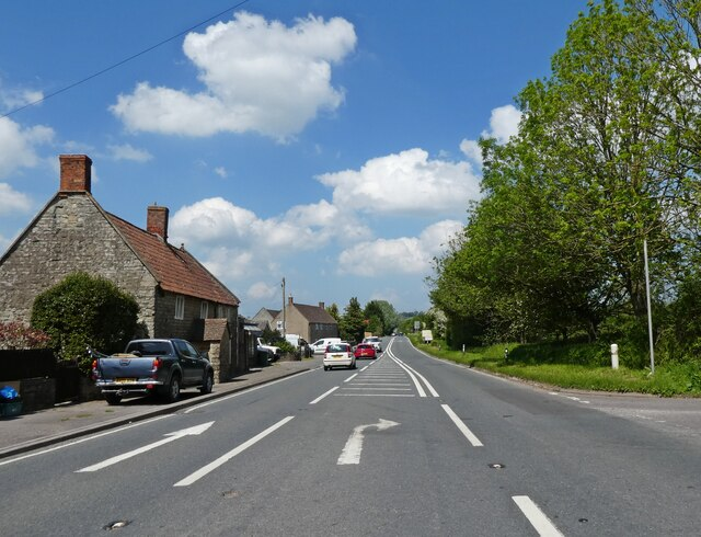 Turning for Evercreech on the A37