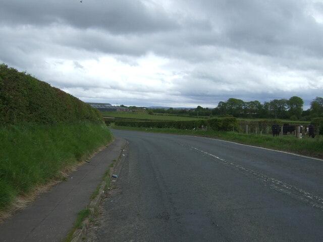 Bend in the B7081 towards Kilmarnock