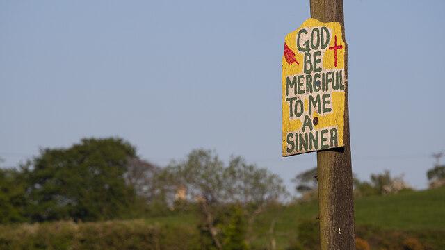 Religious message near Bangor