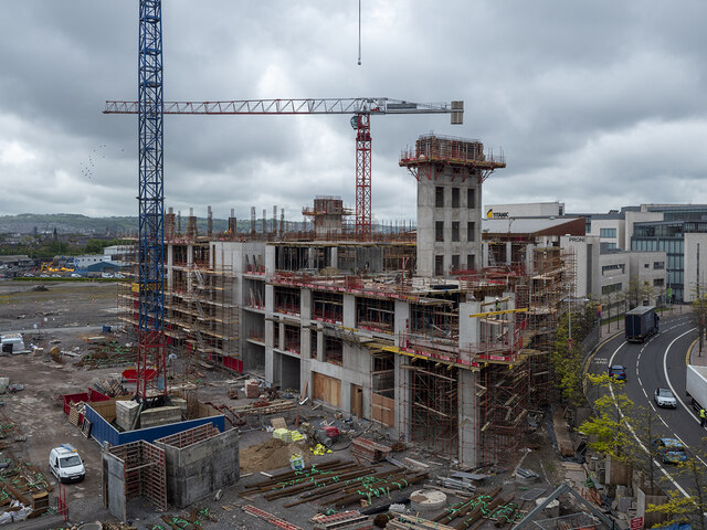 Construction site, Belfast