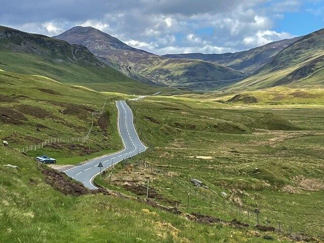 The road through Glen Beag