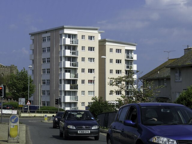 High rise apartments on Exeter Road