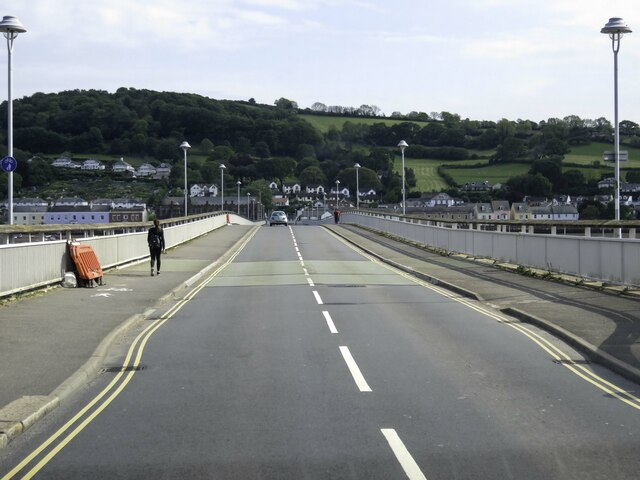 The A379 on the Teignmouth and Sheldon Bridge