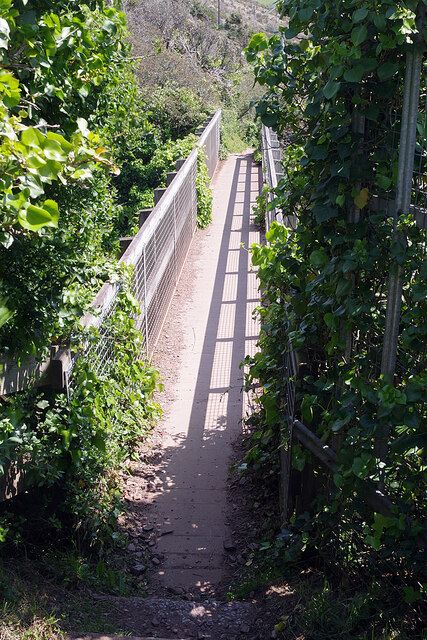Footbridge at Fort Bovisand
