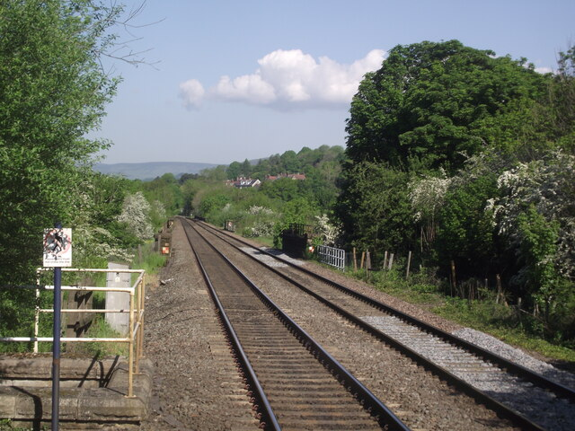 Hope Valley Line west of Hathersage station