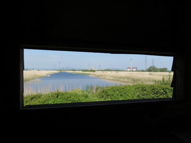Newport Wetlands from a bird hide