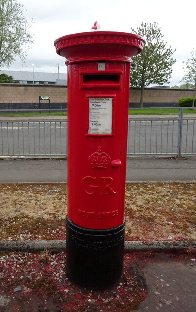 George V postbox on Bonnyton Road, Kilmarnock
