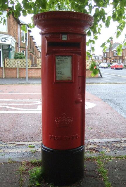 Elizabethan postbox on McLelland Drive, Kilmarnock