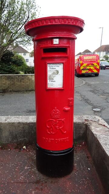 George VI postbox on Munro Avenue, Kilmarnock